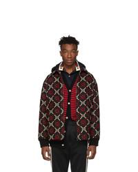 Мужская темно-красная куртка-пуховик от Gucci