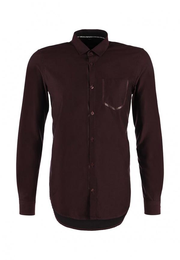 Мужская темно-красная рубашка с длинным рукавом от Tom Tailor