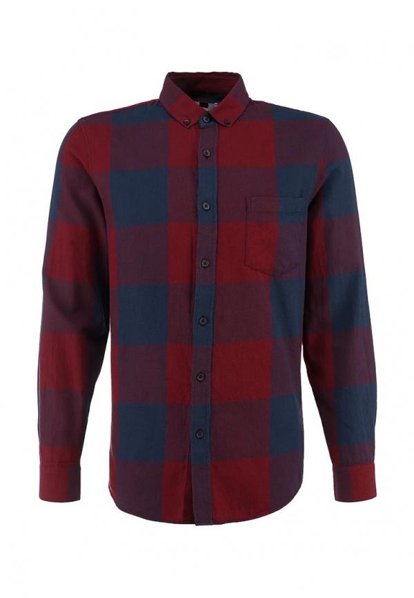 Мужская темно-красная рубашка с длинным рукавом от Topman