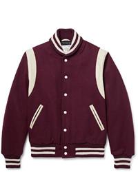 Темно-красная университетская куртка