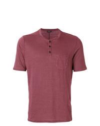 темно красная футболка на пуговицах original 2598495