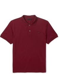 Темно-красная футболка-поло