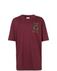 Мужская темно-красная футболка с круглым вырезом с принтом от Faith Connexion