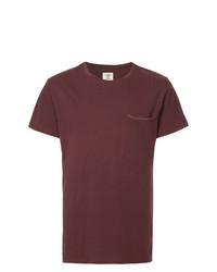 Мужская темно-красная футболка с круглым вырезом от Kent & Curwen