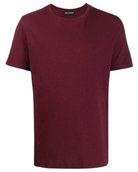 Мужская темно-красная футболка с круглым вырезом от Neil Barrett