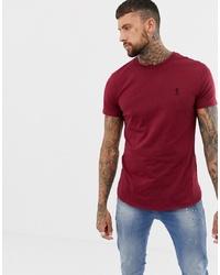 Мужская темно-красная футболка с круглым вырезом от Religion