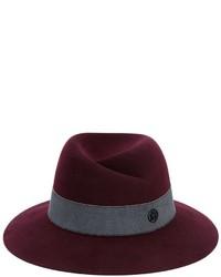 Женская темно-красная шерстяная шляпа от Maison Michel