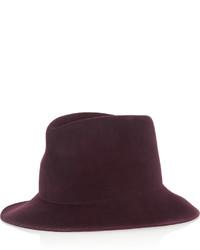 Женская темно-красная шерстяная шляпа от Stella McCartney