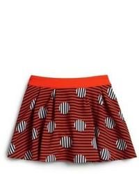 Темно-красная юбка