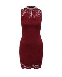 Женское темно-красное вечернее платье от Aurora Firenze