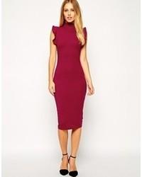 Женское темно-красное облегающее платье от Asos