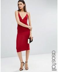 03e9bd7c9bc3202 Темно-красное облегающее платье, 1 261 руб. | Asos | Лукастик