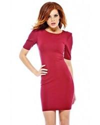 Женское темно-красное облегающее платье от AX Paris