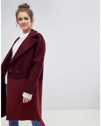 8501e9ec92a Купить женское темно-красное пальто в интернет-магазине Asos ...