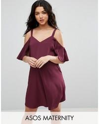 Темно-красное платье-комбинация от Asos