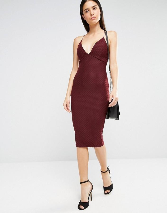 481bf4d5d9e ... Темно-красное платье-миди от AX Paris ...