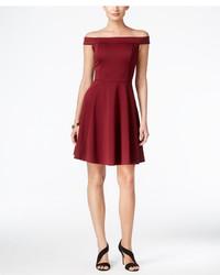 Женское темно-красное платье с пышной юбкой от ECI