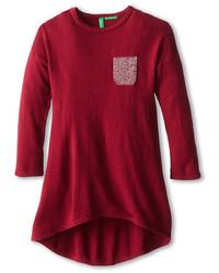 Темно-красное платье