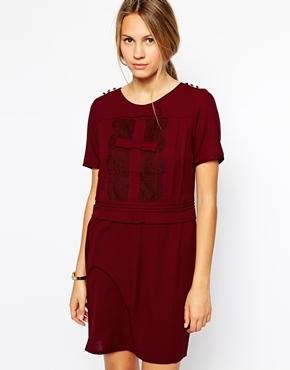 d7c655adde78af4 Темно-красное повседневное платье, 6 161 руб.   Asos   Лукастик