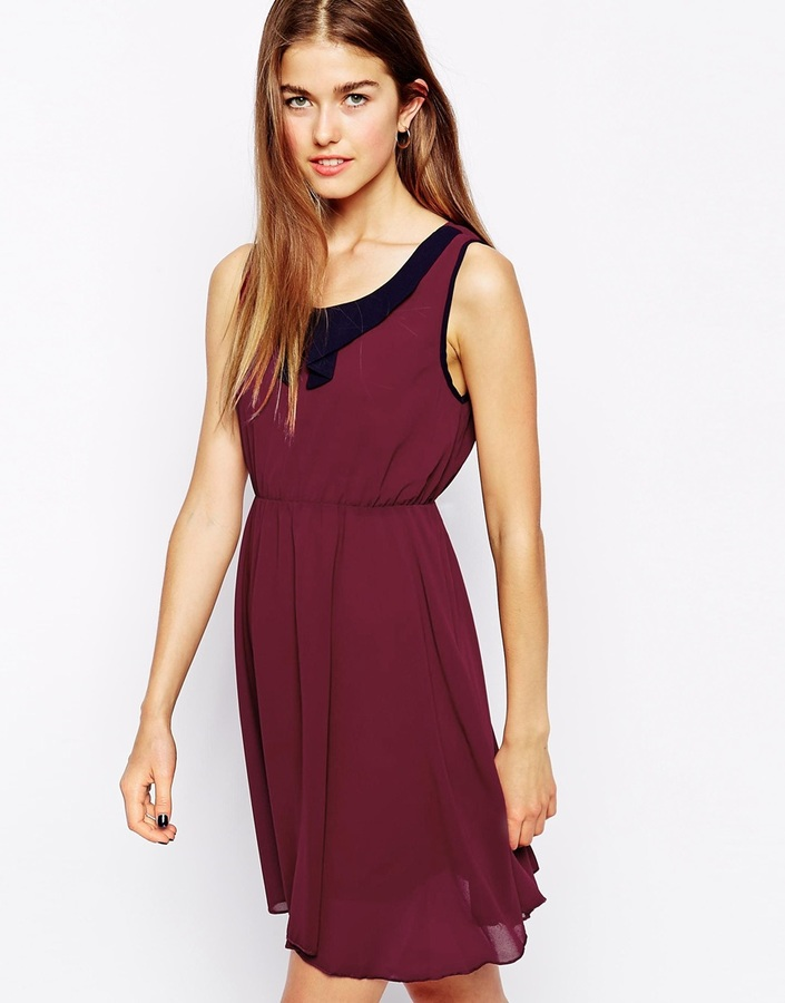 51ba91309165bf5 Темно-красное повседневное платье от Iska, 3 712 руб.   Asos   Лукастик