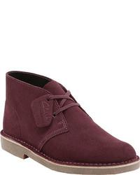 Темно-красные ботинки дезерты