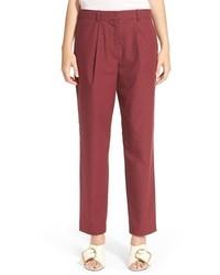 Темно-красные брюки-галифе