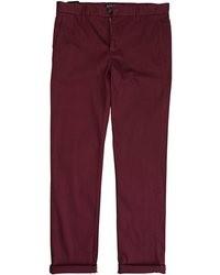 Темно-красные брюки чинос