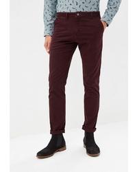 Темно-красные брюки чинос от BAWER
