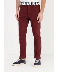 Темно-красные брюки чинос от Fresh Brand