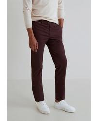 Темно-красные брюки чинос от Mango Man
