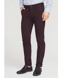 Темно-красные брюки чинос от MOSSMORE