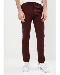 Темно-красные брюки чинос от O'stin