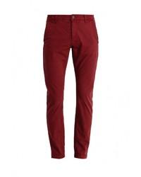Темно-красные брюки чинос от Only & Sons