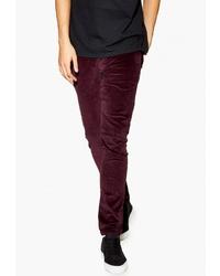 Темно-красные брюки чинос от Topman