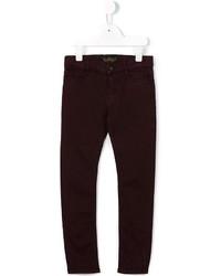 Детские темно-красные джинсы для девочке от Finger In The Nose