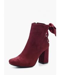Темно-красные замшевые ботильоны от Ideal Shoes