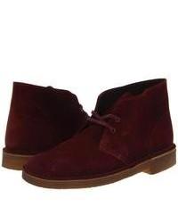 Темно-красные замшевые ботинки дезерты