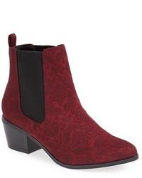 Темно-красные замшевые ботинки челси