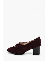 Темно-красные замшевые туфли от Balex