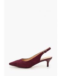 Темно-красные замшевые туфли от Elche