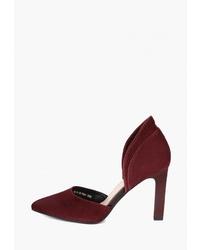Темно-красные замшевые туфли от Emilia Estra