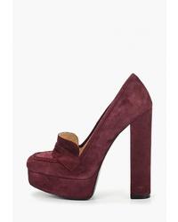 Темно-красные замшевые туфли от Evigi