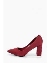 Темно-красные замшевые туфли от Exquily