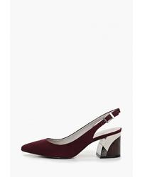 Темно-красные замшевые туфли от Indiana