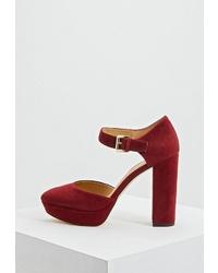 Темно-красные замшевые туфли от MICHAEL Michael Kors