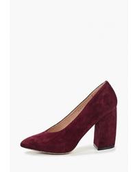 Темно-красные замшевые туфли от Portal