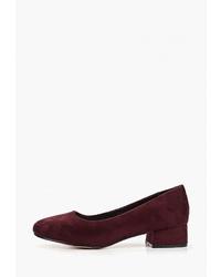 Темно-красные замшевые туфли от Redgem
