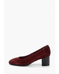Темно-красные замшевые туфли от SHOIBERG