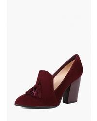 Темно-красные замшевые туфли от Westfalika