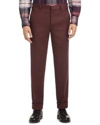 Темно-красные классические брюки